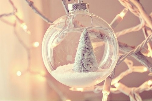 christmas, fairy lights, snow, snowing, trees, winter