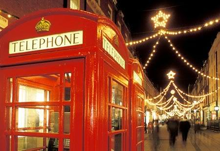 christmas, london, love, red, telephone