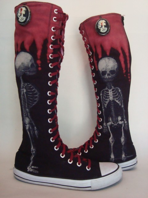 Converse Shoes Knee High Boots