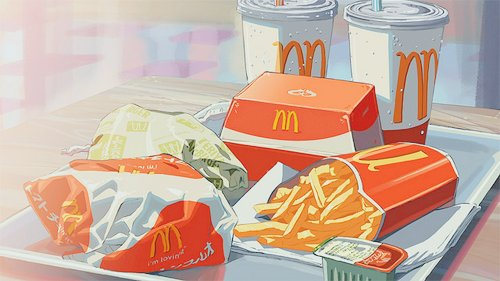adorable, amazing, anime, art, beautiful, cute, draw, fast food, food, fries, illustration, image, kawaii, mcdonalds, perfect, red, yellow