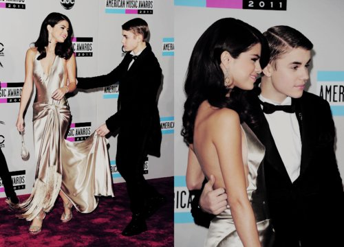 adorable, american music awards, boy, couple, cute, fashion, girl, justin bieber, kiss, love, selena gomez