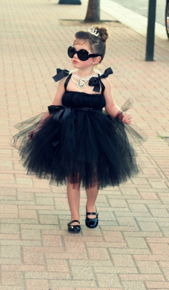 adorable, audrey hepburn, child, costume, cute, fashion, girl