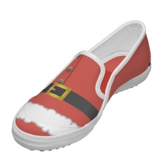 adorable, christmas, christmas shoes, claus, cute, festive, fun