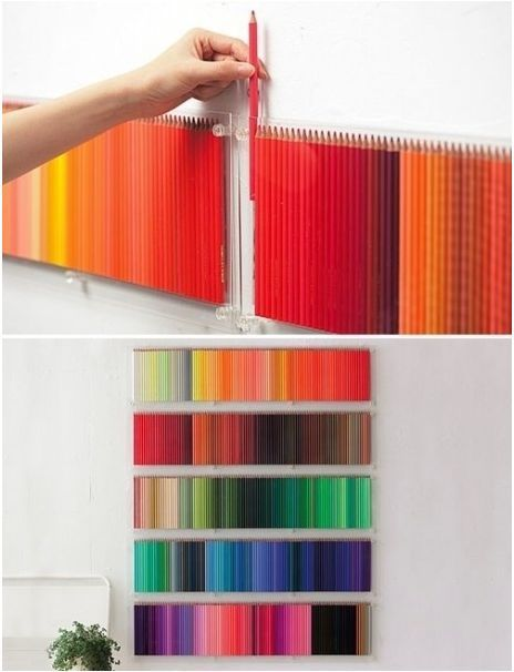 aew, art, artist, artistic, arty, awesome, ballroom, color, colour, coloured pencils, cool, crayons, cute, decor, great idea, image, jelly, living room, neat, neato, pencil, pencil crayons, rainbow, wall, want, wanted, white room