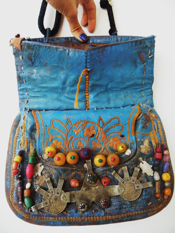 africa, antique, bag, belly dance, blue