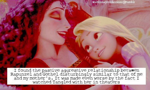agressive, cinema, film, gotel, hate, mother, mother and daughter, movie, passiv, rapunzel, relationship, sad, tangled, theaters, worse