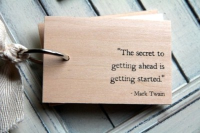 ahead, getting ahead, inspirational, mark twain, saying