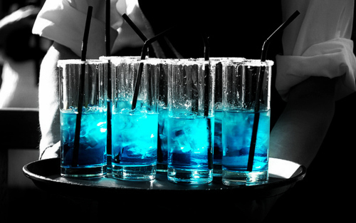alcohol, blue, drinks, party