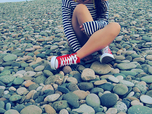 all star, blue, girl, ground, navy, red, stones