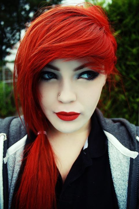 alternavite, awsum, bangs, eyes, girl, piercing, pretty, red hair, red head