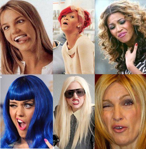 amazing, beautiful, beyonce, britney spears, diva, face, faces, funny, katy perry, lady gaga, lol, madonna, rihanna, wonderful