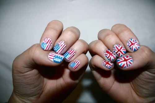 america, american flag, american nails, art, blue, britain, british flag, british nails, cool, cute, flag, flag nails, flags, hands, inspiration, nail art, nail flags, nail polish, nailart, nailpolish, nails, red, usa, white