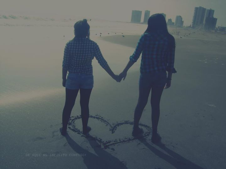 amistad, amor, beach, friends, heart