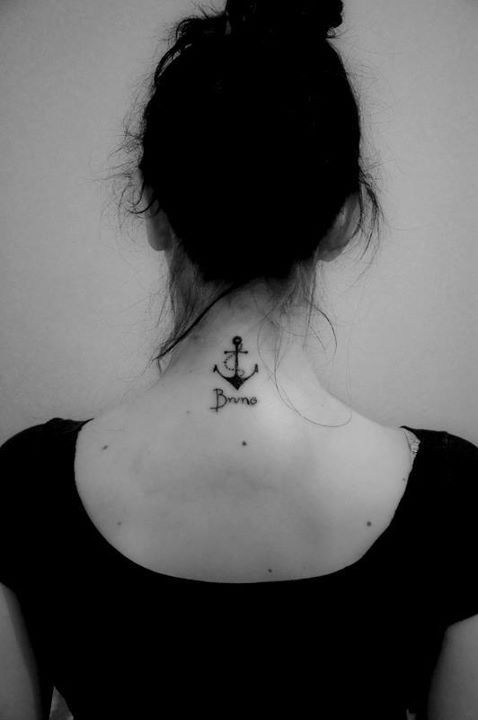 anchor, anchor tattoo, black and white, evelyn trippo, love
