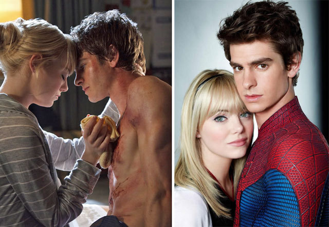 andrew garfield, couple, emma, emma stone, love