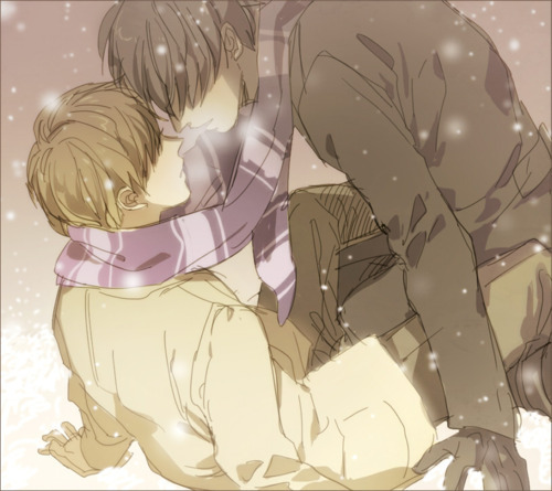 anime-art-boys-kiss-yaoi-Favim.com-258634.jpg (500×445)