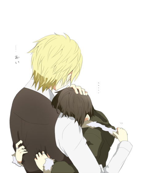 anime, drrr!!, durarara!!, hug, izaya