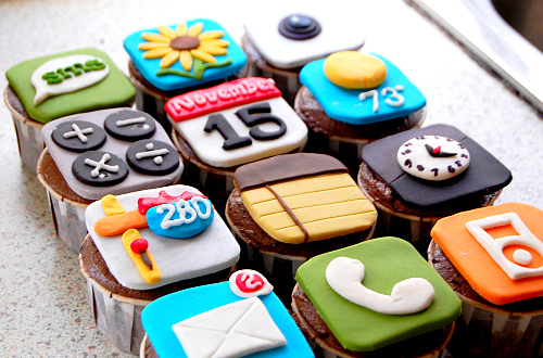 apps, awesome, cake, camera, clock
