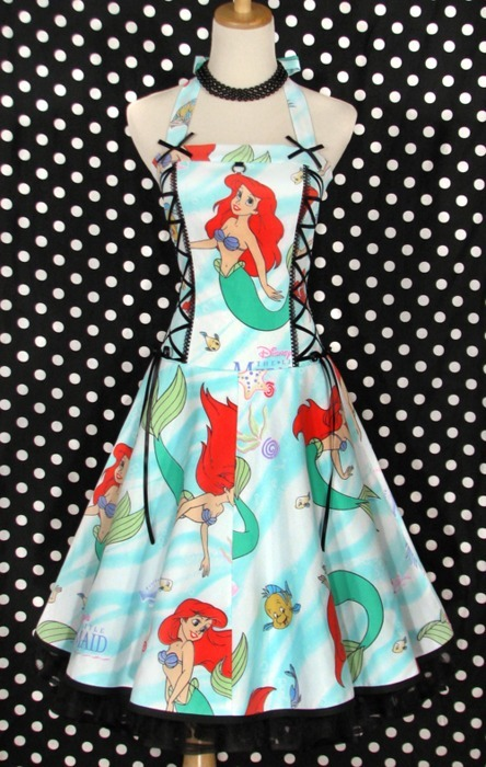 ariel, disney, dress, fashion, princess