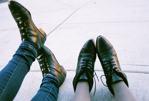 art, boots, hipster, indie, legs, pavement, photography, shoes, vintage