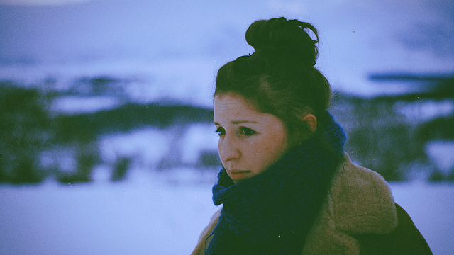 art, chignon, cold, girl, hair