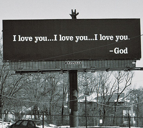 atheist, god, god loves you, love, religion