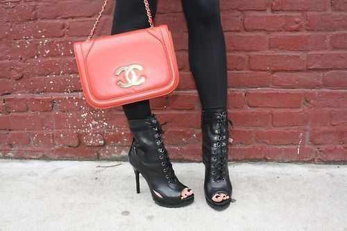 bag, boots, chanel, coach, cute