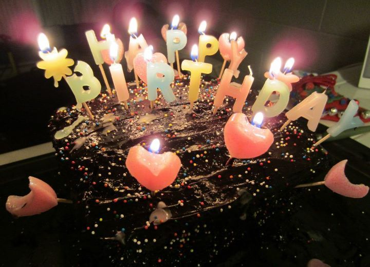 birthday cake with candles | Tumblr