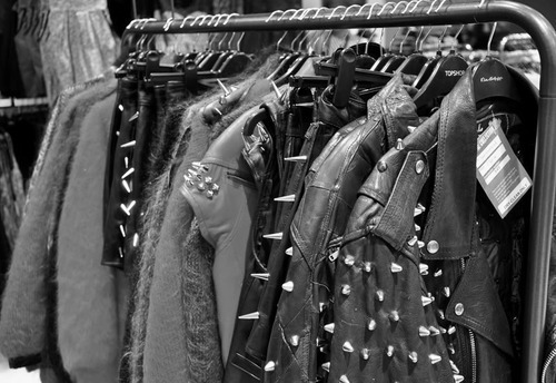 Black and white clothing stores
