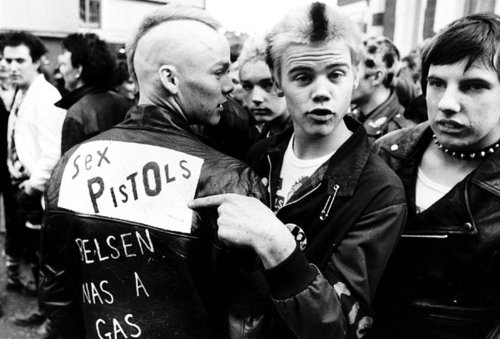 b&amp;w, black and white, punk, sex pistols, vintage