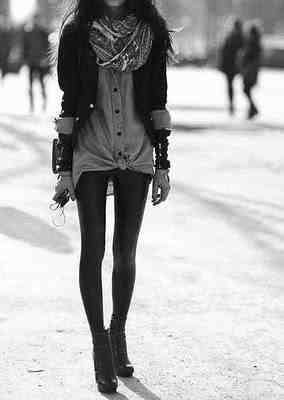 b&w, black, clothes, fashion, girl, legs, model, skinny, tights