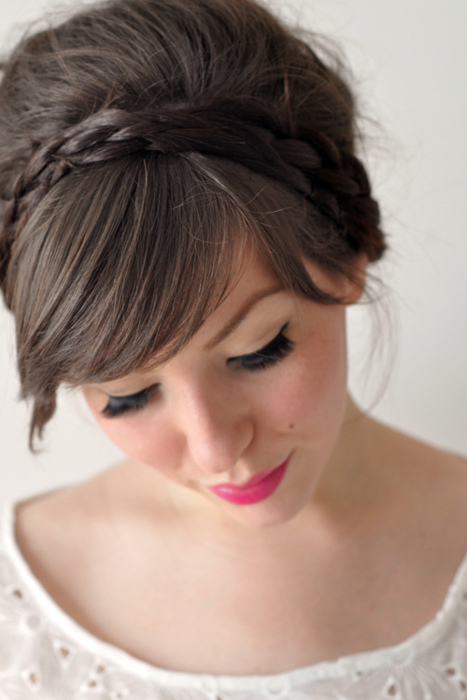 bangs, beautiful, bohemian, boho, bun