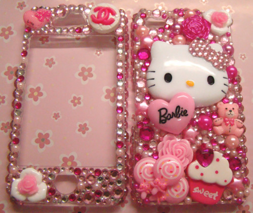 barbie, case, chanel, flower, hello kitty, iphone, kawaii, phone, pink