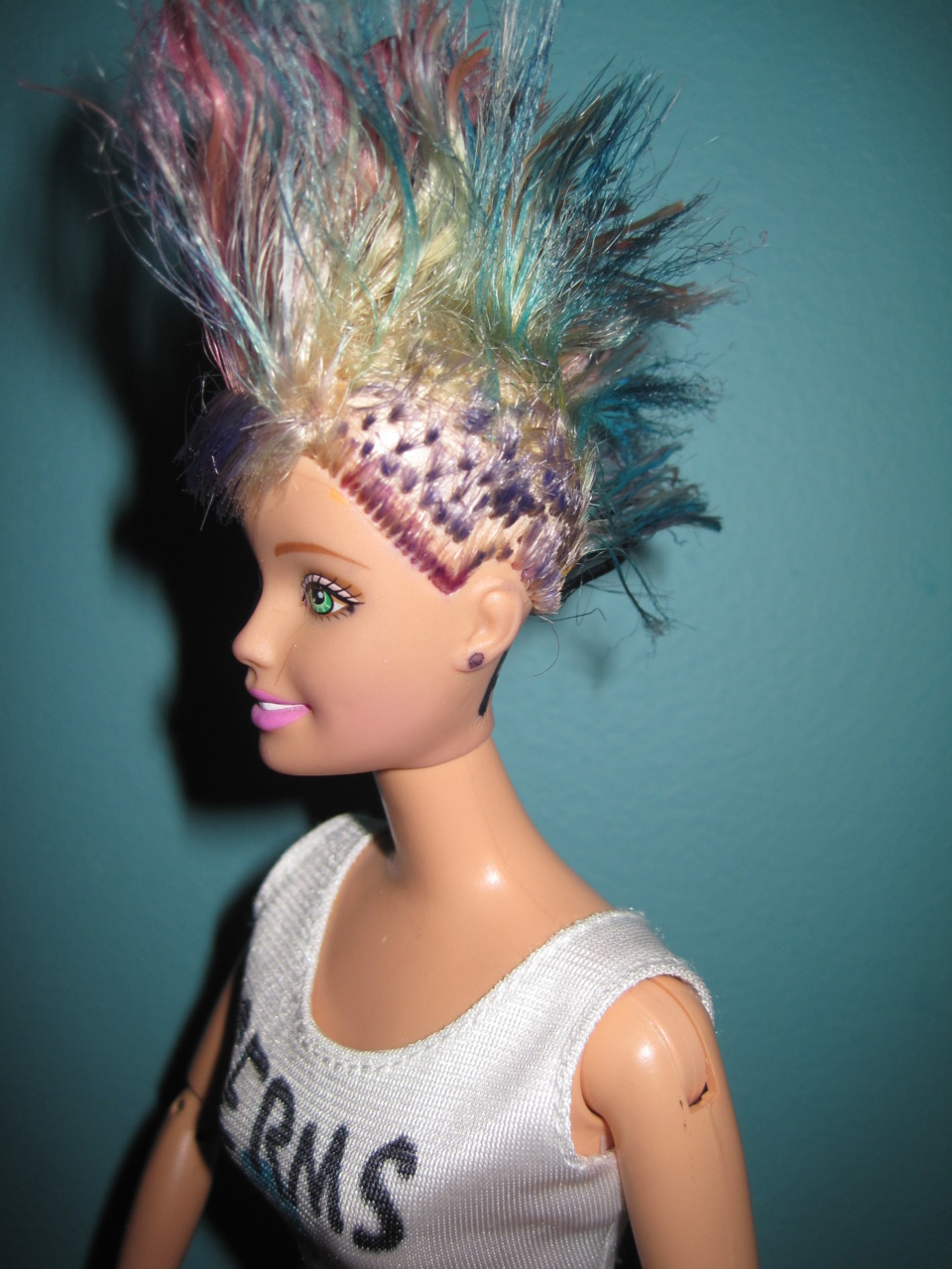 Barbie girl hair punk image 256707 on favim com