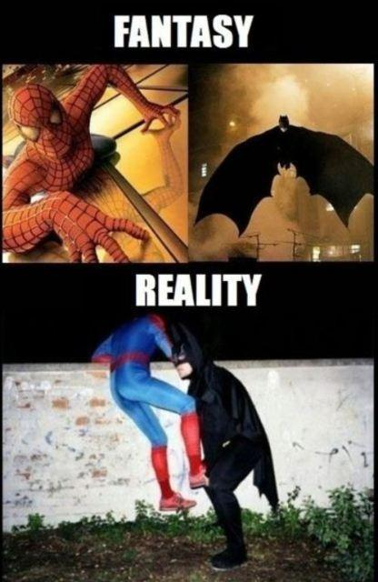 batman, haha, spiderman