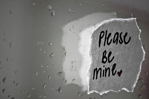 be mine, heart, paper, please, rain, wet, window
