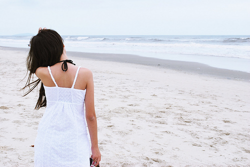 beach, blue, calm, cool, dress