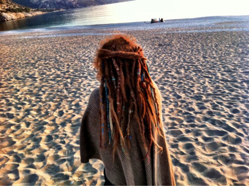 beach, dreadlocks, dreads, girl, hippie