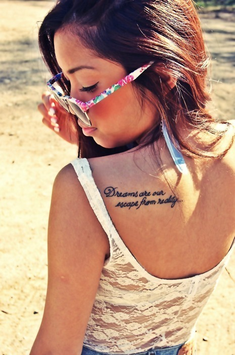 beautiful, beauty, brunette, fashion, girl, hair, love, photography, quote, style, summer, sun, tattoo