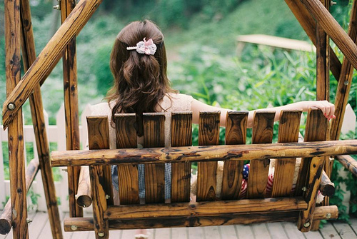 beautiful, bench, chic, cute, elegant, fashion, grass, hair, outside, pretty, wood