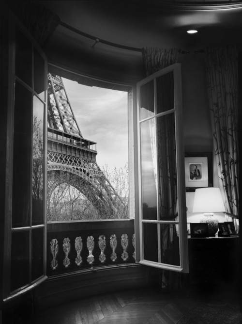 beautiful, black and white, bnw, eiffel tower, love, old, paris, pretty, vintage, window
