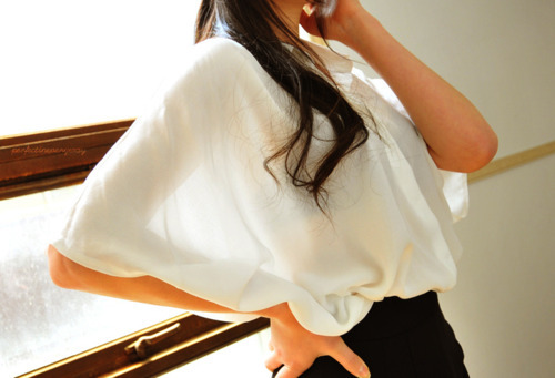 beautiful, black, blouse, girl, hair