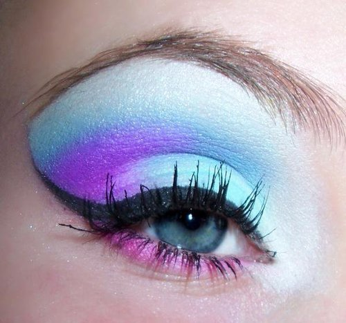 beautiful, blue eye, eye, eye shadow, eyeliner, lashes, make up, pretty