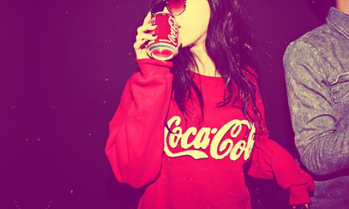 beautiful, brown hair, canon, chanel, coca cola