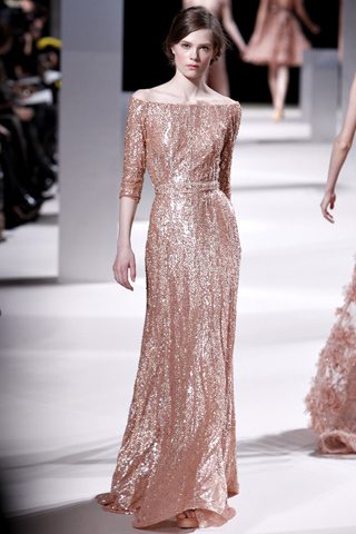 beautiful dress, dress, elegance, elegant dress, elie saab, elie saab spring 2011, long dress, pink dress