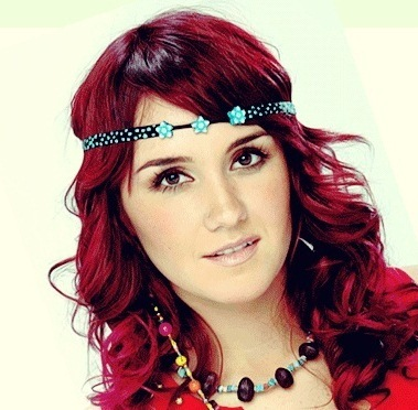beautiful, dulce maria , ginger, girl, red hair