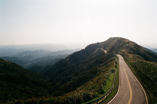 beautiful, fashion, hair, hills, landscape, mountains, nature, photo, photography, road, view