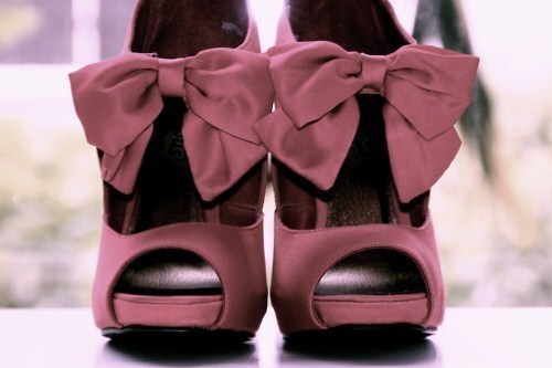 beauty, bow, bows, color, colors, cute, fashion, heels, love, pink, shoes, stilettos