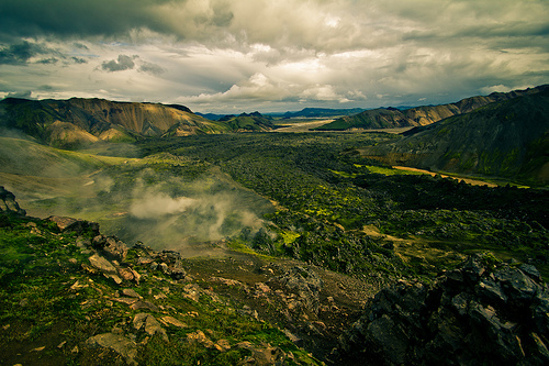 beauty, clouds, geography, green, iceland, landscapes, mist, mountains, nature, photography, pretty, spring