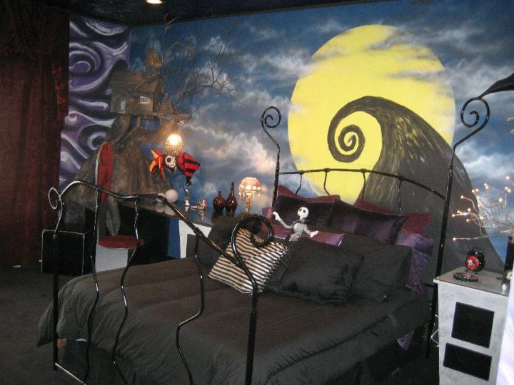 bedroom, betllejuice, nightmare before christmas, tim burton